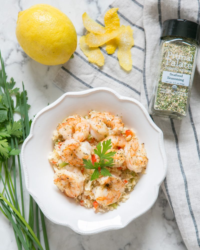 Paleo Shrimp with Dirty Cauliflower Rice-2-2