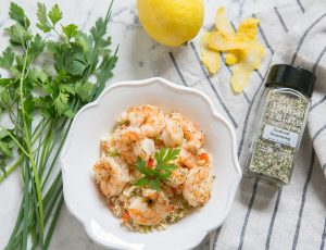 Whats for lunch: Pan Fried Shrimp with Vegetable Cauliflower Rice