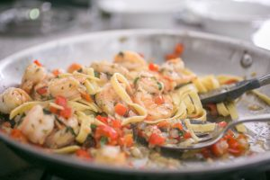 Super Gyro Shrimp Fettuccine Recipe