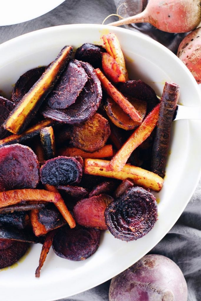 Turmeric Maple Roasted Beets and Carrots Recipe