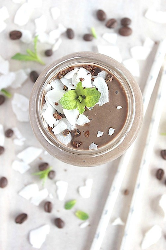 Iced Peppermint Mocha Smoothie Recipe