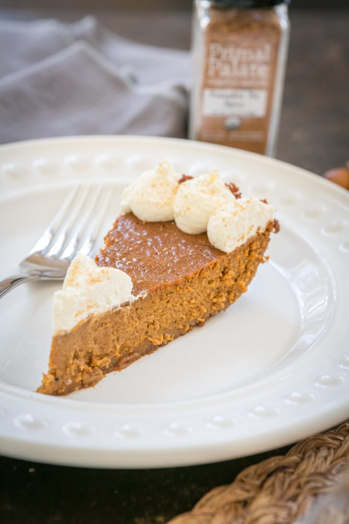 Classic Pumpkin Pie with a Gingersnap Crust Recipe