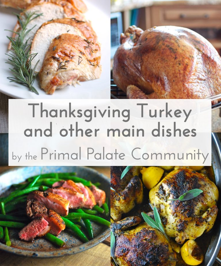 Thanksgiving Turkey Recipes (and other main dishes)