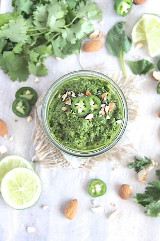 Roasted Almond & Jalapeno Pesto Recipe