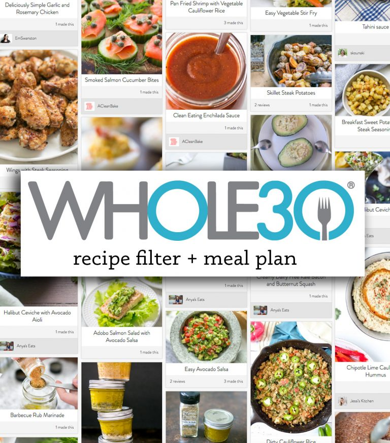 NEW: Whole30 Recipe Filter and Meal Plan