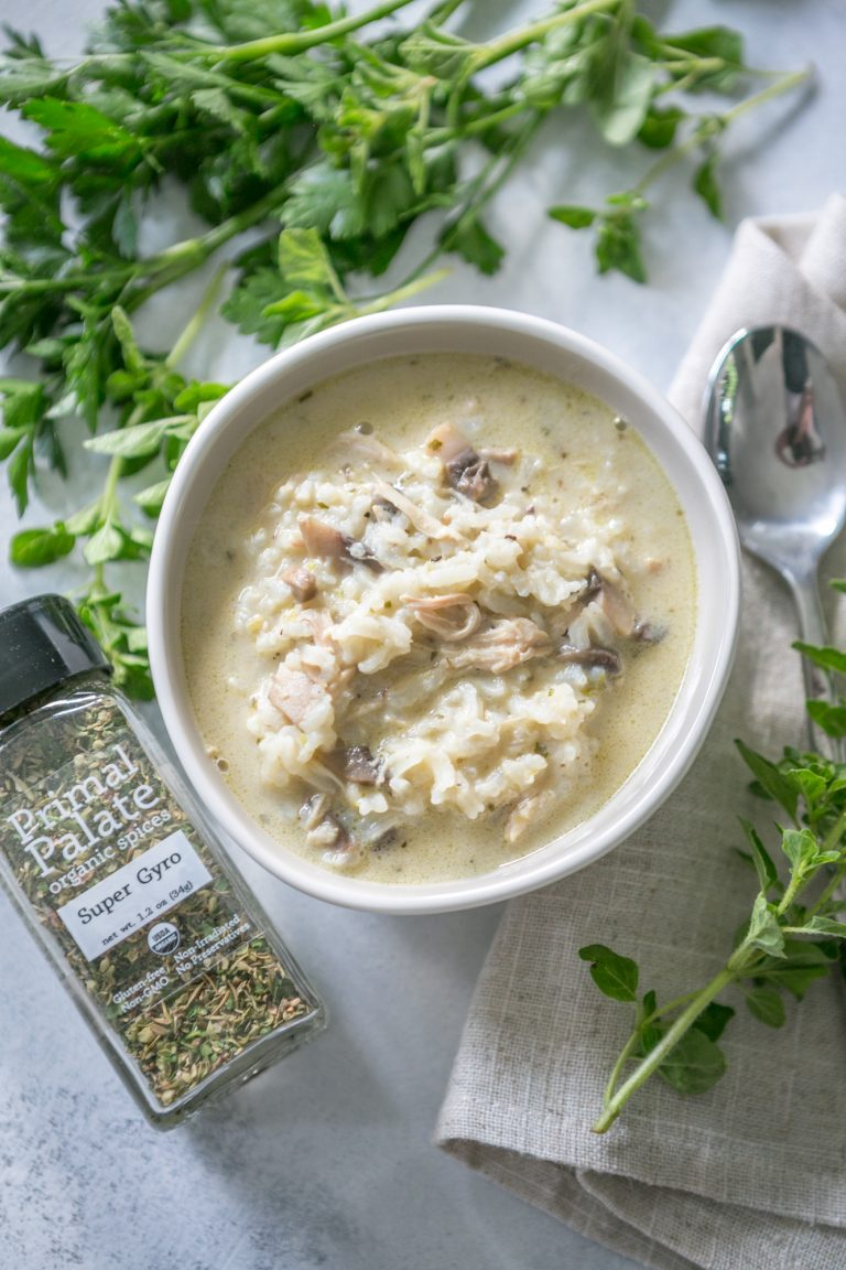 Creamy Chicken and Mushroom Soup with Rice