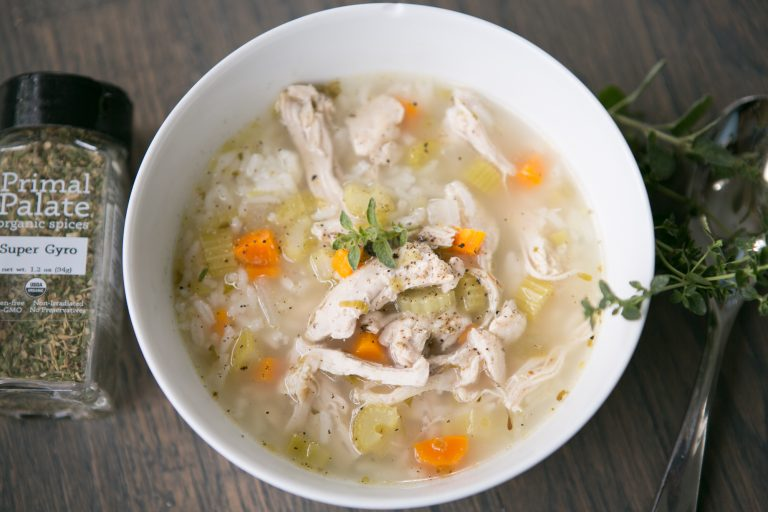 Chicken and Rice Soup with Lemon