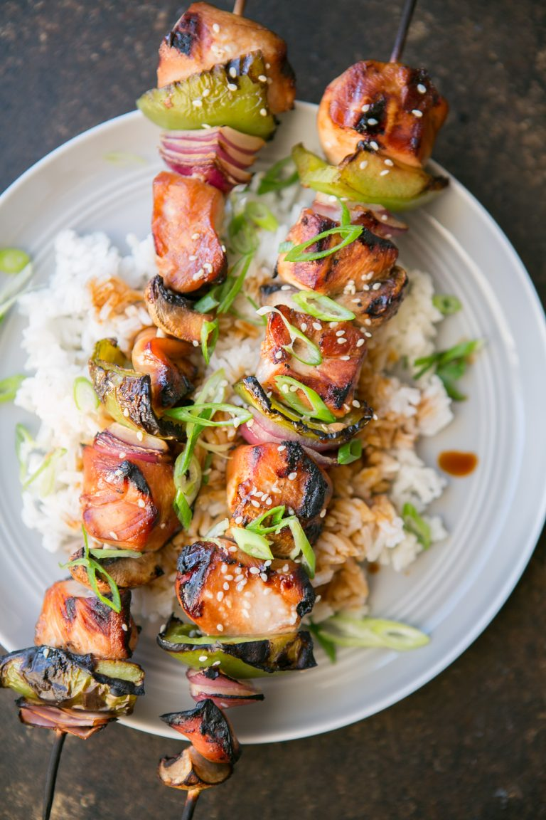 Honey Sesame Chicken Skewers