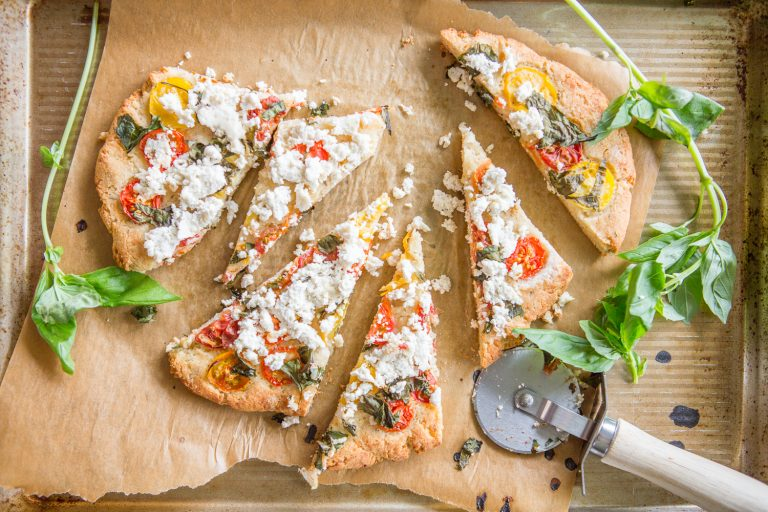 Tomato, Basil, and Ricotta Flatbread