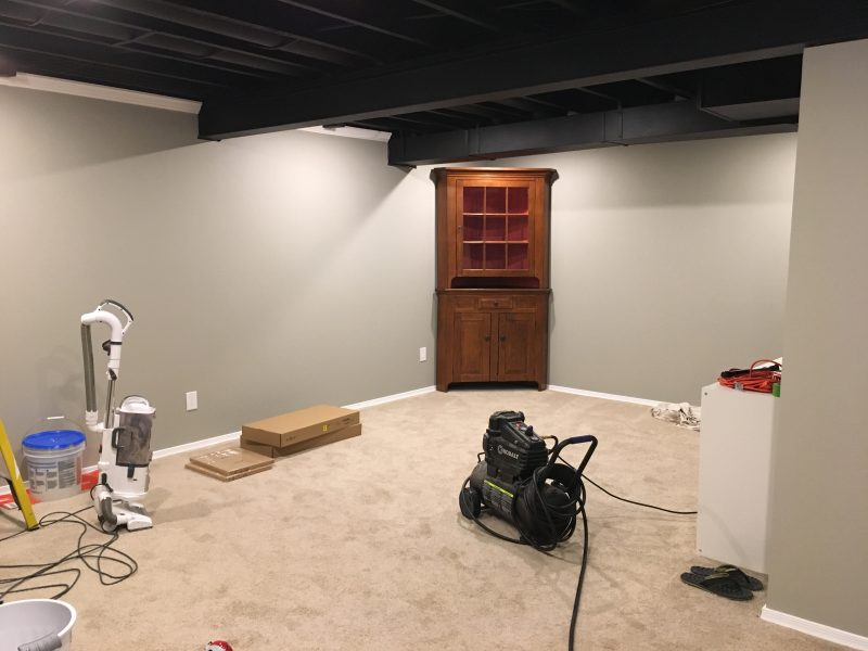 After Many Hours Masking, And Eight Hours With A Spray Gun, The Ceiling Was  Finished. I Installed Some New Lighting, Hayley Painted The Walls, ...