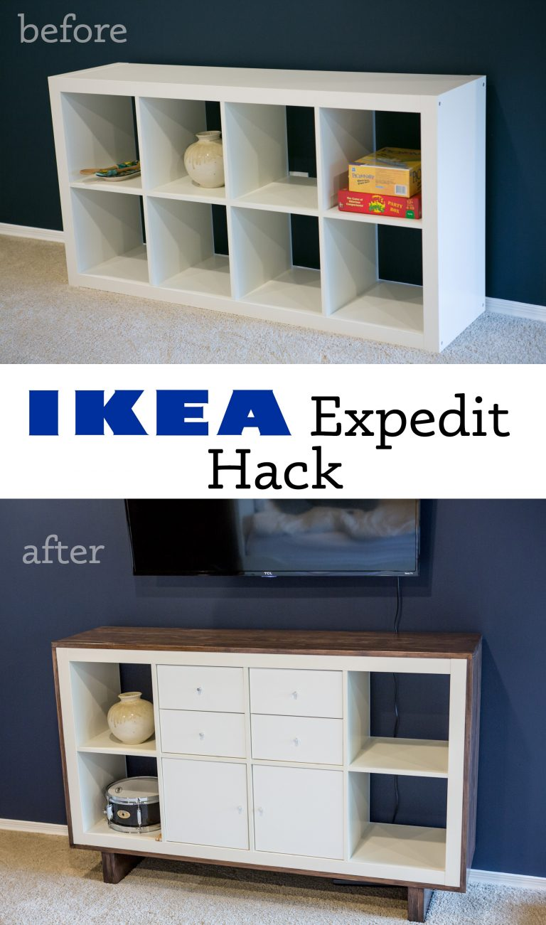 Ikea hack expedit tv stand non toxic primal palate - Ikea table tv ...