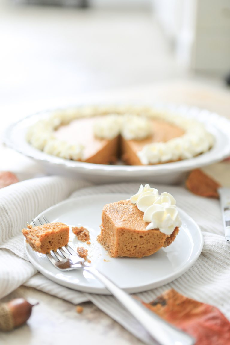 Chiffon Pumpkin Pie with a Gingersnap Cookie Crust