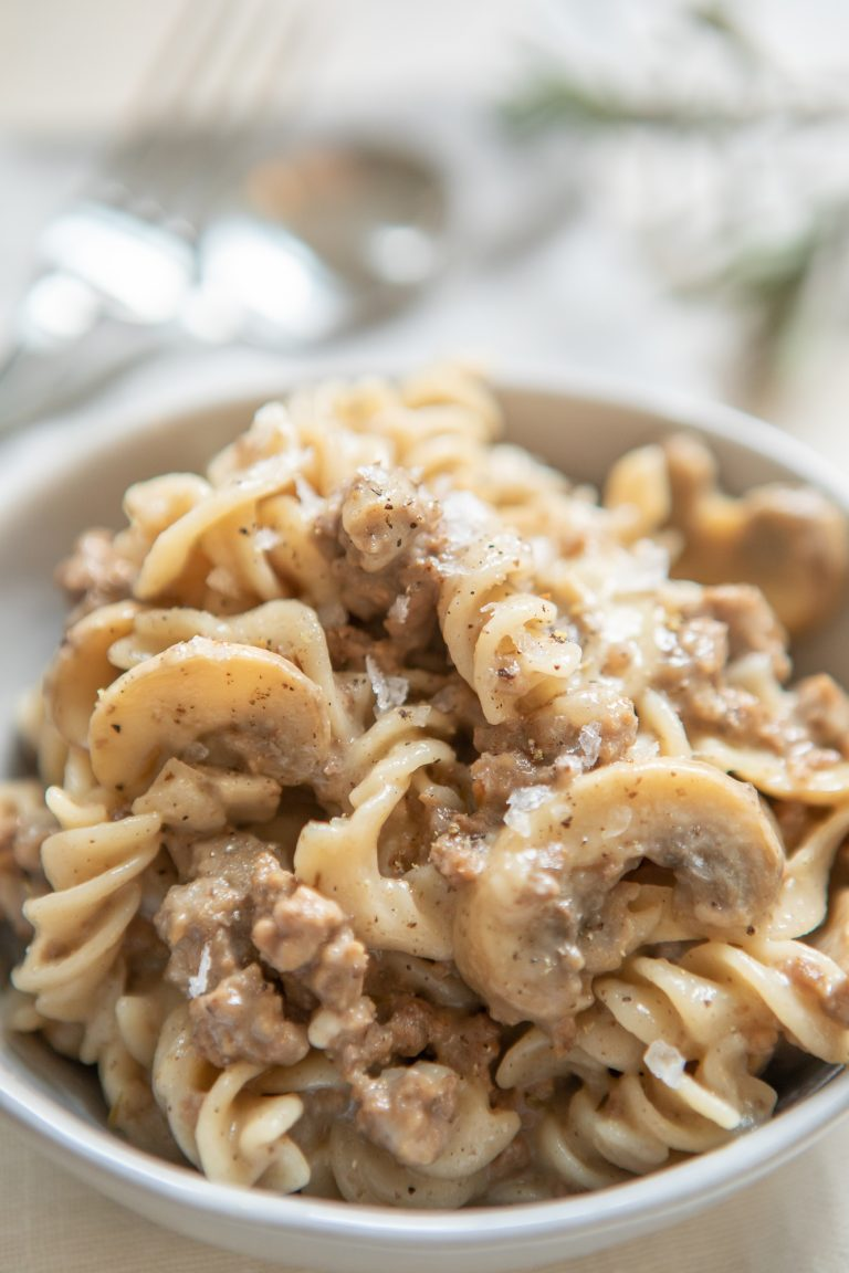 Gluten Free Creamy Beef and Noodles