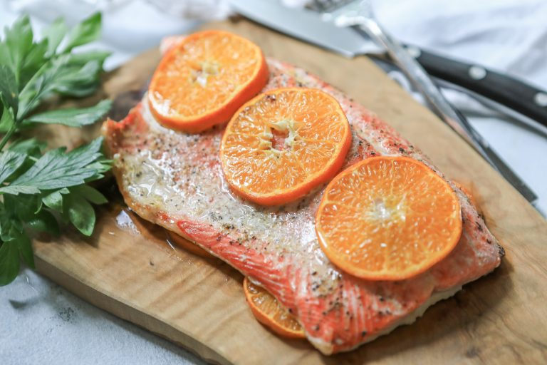 Quick Citrus Salmon and Lemon-Herb Potatoes